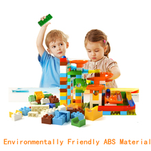 47-200PCS Marble Race Run Maze Rolling Ball Track Construction  Assemble Building Blocks Set Educational Creative Toy for Kid utoysland 105pcs diy building blocks maze track marble ball construction system toy for kids chilrden
