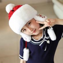 Nouveau automne hiver parent-enfant enfants enfants fille garçon belle réel  rex lapin chapeau de fourrure de bande dessinée véri. d2786dcd1c6