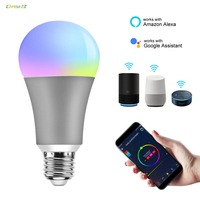 Dimmable Rgb Color Changing Smart Bulb Wifi Led Light Bulbs e27 Support For Alexa / Xiaomi / Tmallgenie / Xiaodu Gold / Grey