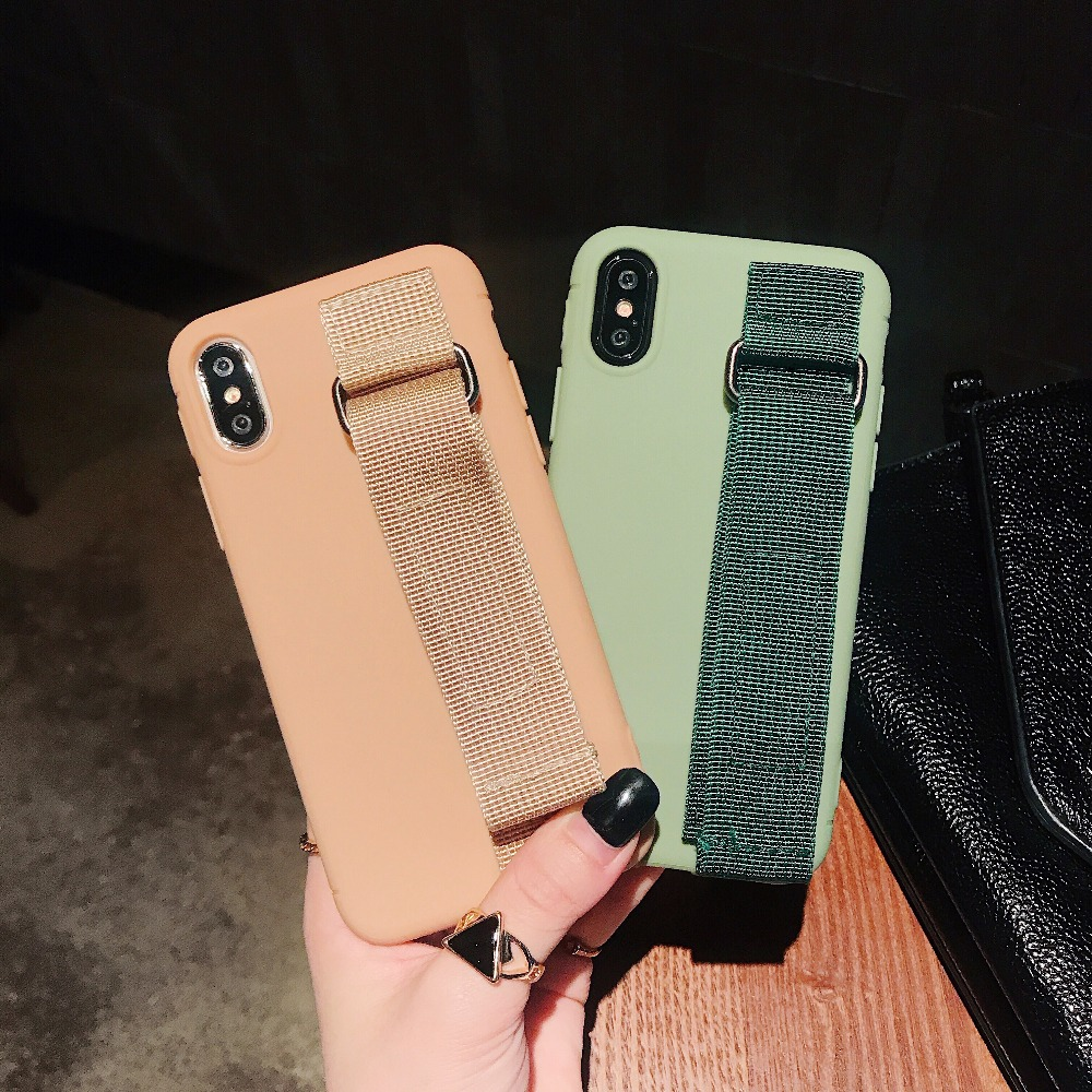 Phone Cases Wrist Band For IPhone 6 6s 7 8 Plus X XS MAX XR Plain Portable Holder Holder