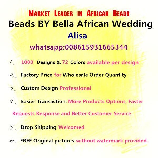 Großhandel Königsblau Kristall Handmade Nigerianische Mode Perlen Blumen Afrikanischen Schmuck Sets Halskette Kostenloser Versand ABK502 - 2