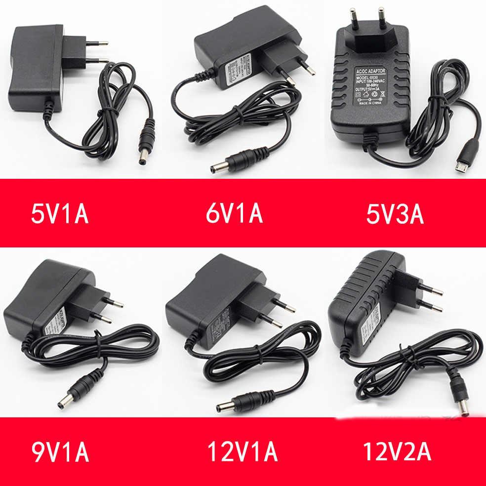 1 stücke 100-240V AC zu DC Power Adapter Versorgung Ladegerät adapter 5V 12V 1A 2A 0,5 EINE AU Stecker 5,5mm * 2,5mm/5,5mm * 2,1mm Stecker Micro USB