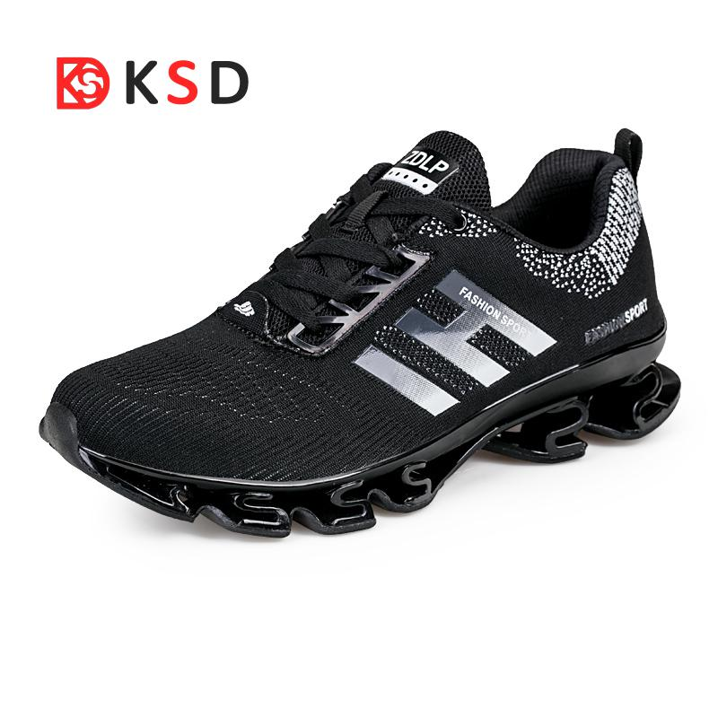 Big Size 36-45 Men Running Shoes Outdoor Breathable Jogging Sport Blade Shoes For Mens Krasovki Walking Athletic Sneakers