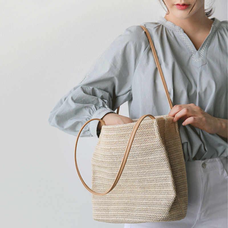 d7fc70ec9115 Повседневное Пляжная Сумка летние дизайнерские небольшой соломы должны  мешки для отдыха женские сумки ручной работы,