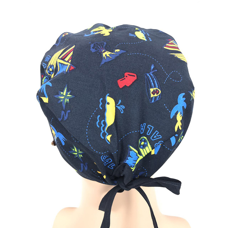 Rabbit Carrot Print Men Womens Medical Cap Clinic Surgical Hospital Doctor Laboratory Pharmacy Beauty Salon Workwear Cotton Hat Medical Novelty & Special Use