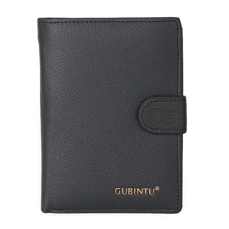 Portefeuille femme porte-carte de crédit housse de passeport porte-monnaie pour femmes porte-monnaie en cuir mode Style noir noir Document pilote portefeuille
