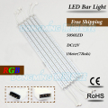 5pcs 1m 12V 72leds 100cm led rigid strip light 5050 rgb led bar light indoor U aluminum profile PC milky/clear cover
