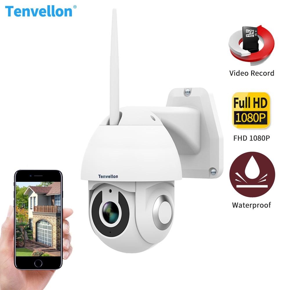 Tenvellon IP Caméra WIFI 1080 P Extérieure Étanche caméra ptz Speed Dome CCTV caméras de sécurité IP Caméra Home Video Surveillance
