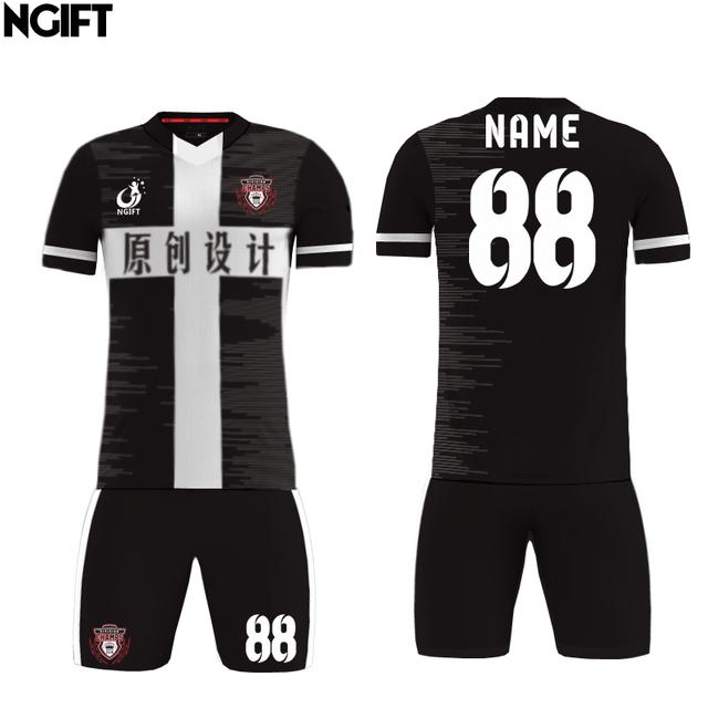 Ngift  Kids Adult Soccer Jersey Breathable Sublimated Football Set Men shirts shorts sets DIY jersey