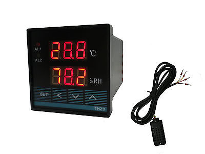 Digital Temperature & Humidity Controller with Relay Output (48x48 / Celsius) digital indoor air quality carbon dioxide meter temperature rh humidity twa stel display 99 points made in taiwan co2 monitor