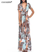 2017 New Design Empire Full Sleeve Womens Dress With Belt Strapless Dress Plus Size Floor-Length O-Neck Maxi Dress Autumn