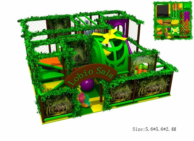 Exported to Portugal CE Approved Kindergarten Indoor Play Structure ...