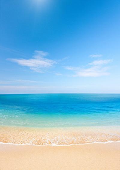 5x7ft (1.5x2.2m) Seaside Beach Blue Sky Clean Sand Beach