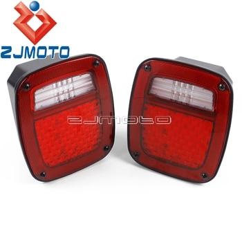 1 Pair LED Turn Signals Brake Stop Lights Red Reverse Back Up Lamps For Jeep Wrangler 1976-2006 TJ  YJ CJ License Plate Light