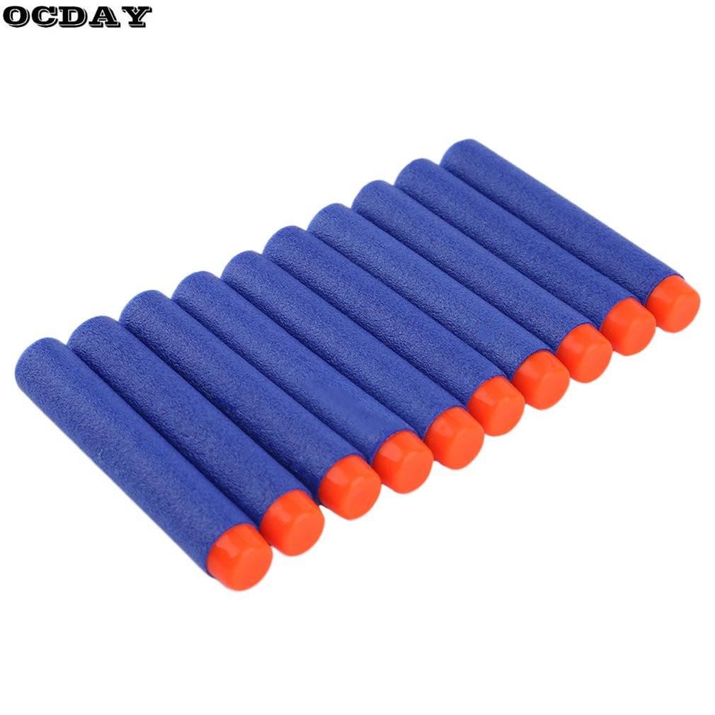 50/100/200PCS Hollow Hole Head Foam Soft EVA Bullets Toy Gun Darts For Refill Toy Gun Lightweight Air Gun 7cm Universal Bullets
