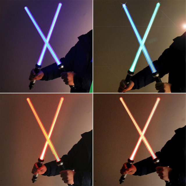 2 pieces/lot Star Wars Cosplay Light saber LED Sword Toys with Sound and Light for Boy Girls Birthday Gifts