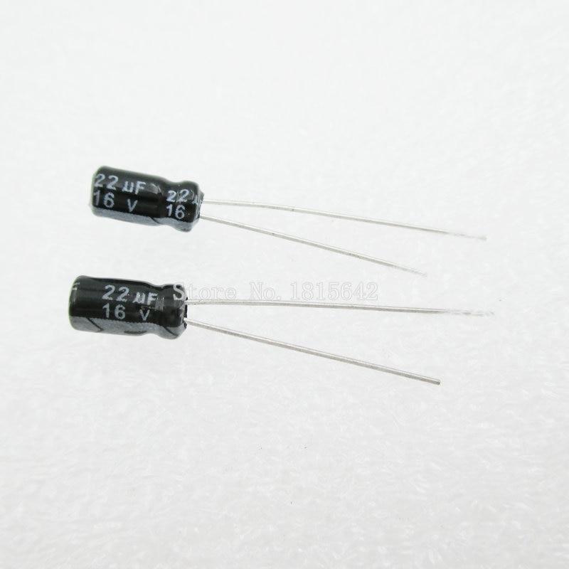 20PCS/LOT 22uF 16V Aluminum Electrolytic Capacitor 16v 22uf 4*5 Electrolytic Capacitor