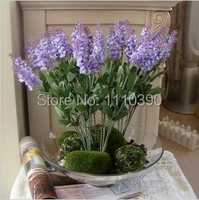 Wholesale 34 CM provence lavender,diy Craft fabric Silk artificial flowers for Wedding Table Home Decoration,Scrapbooking
