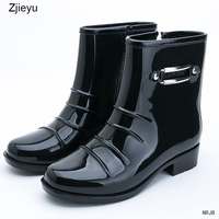2016 Fashion Short Cylinder Big Yards Zipper Boots Shoes Spring And Autumn Water For Rubber Waterproof
