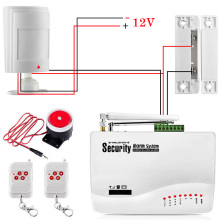 GSM Сигнализация Для Дома Системы безопасности с Проводной ПИР/датчик Двери Двойная Антенна охранной сигнализации