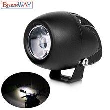 BraveWay LED fendinebbia per Moto fendinebbia luce Extra per Moto ATV lampada lavorata per camion Moto ausiliaria guida DRL 12V 24V