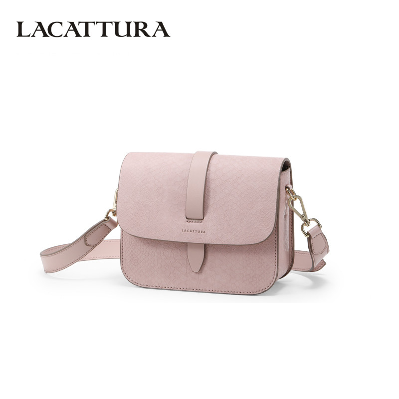 LACATTURA Womens Crossbody Bags Luxury Crocodile Skin Texture Design Lady Messenger Bags Fashion Shoulder Bag for Women 2019-in Shoulder Bags from Luggage & Bags    1