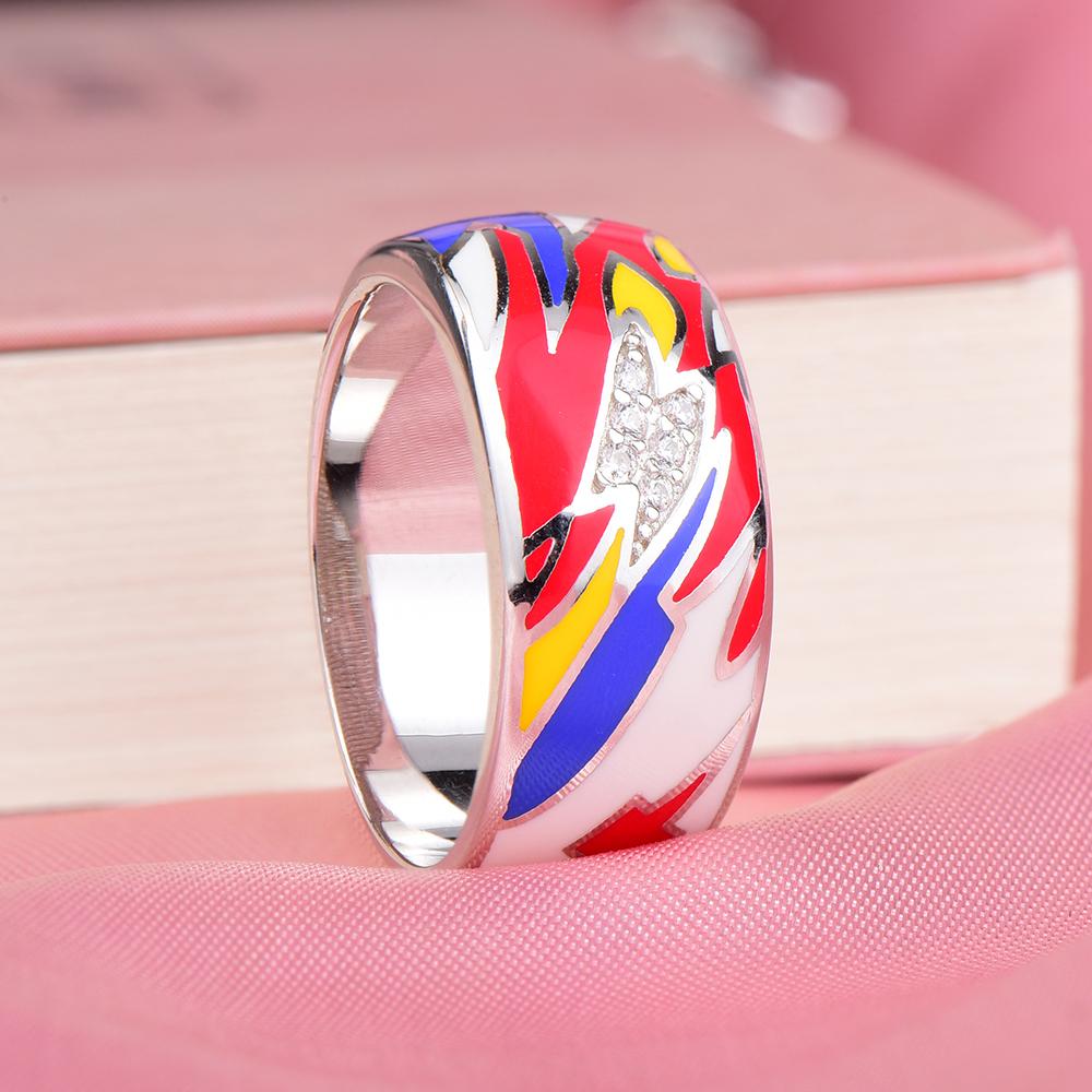 Aliexpress.com : Buy RainMarch Bohemian Enamel Male Ring For Women ...