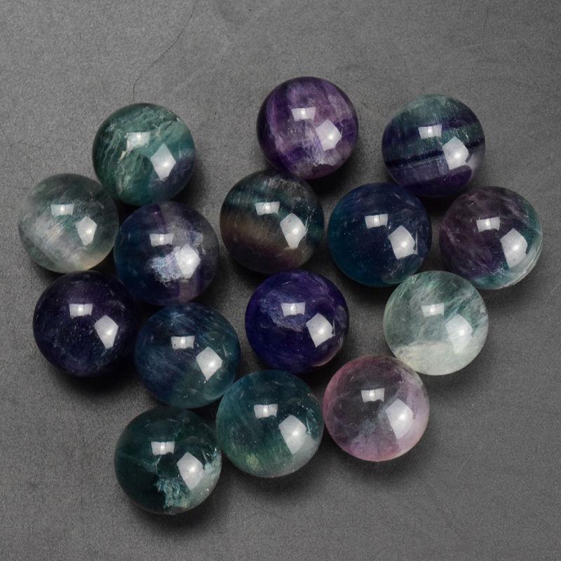 15 unids/set 30mm bolas de curación de cristal de fluorita natural-in Piedras from Hogar y Mascotas on AliExpress - 11.11_Double 11_Singles' Day 1