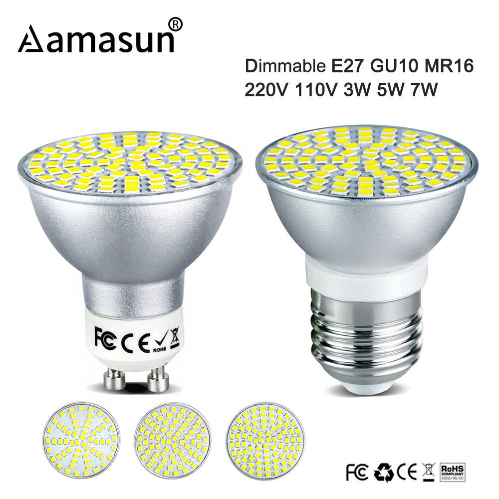 Lampada 110v 3w Gu10 Mr16 Scr 220v Dimmer Led 7w Lamp E27 Indoor 5w Dimmable Spotlight Bombillas Bulb Lighting CxrdoBWe