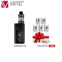 Gift Coils Vape kit Vaptio Super Bat 220W TC/VW box Mod fit 18650 Battery 510 thread atomizer 2.0/5.0ml support dropshipping