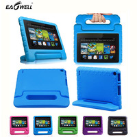 2015 New Kids Children Safe Rugged Proof Foam Case Handle Stand For Kindle Fire HD 7