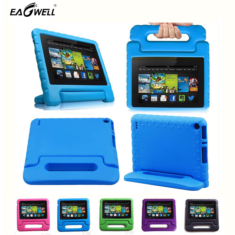 Shockproof Stand Handle Protective Cover For Amazon Kindle Fire HD7 2015 Children Kids Thick Foam EVA Back Case shockproof kids children save protective