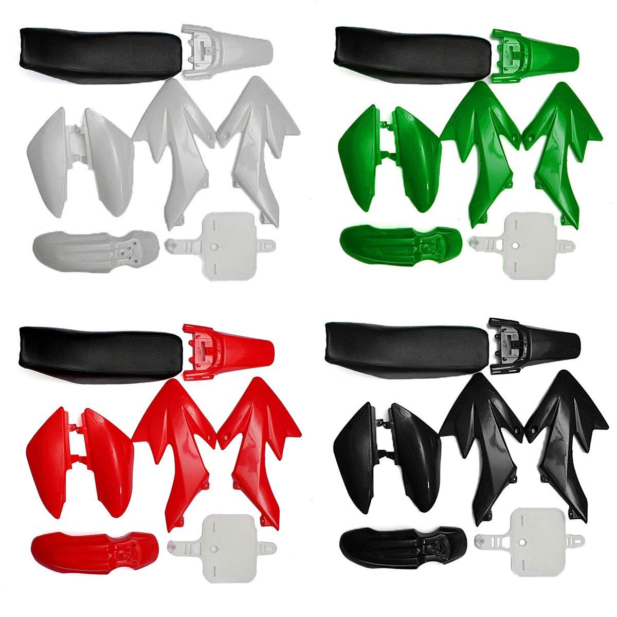 4 Color 50cc 110cc 125cc 140cc Plastic 4-Stroke CRF50 Pit Bike Set Mudguard Seat flat seat plastic fenders mud guard kits for crf 50 xr 50 sdg ssr 110cc 125cc 140cc 150cc pit pro bike fit trai thumpstar