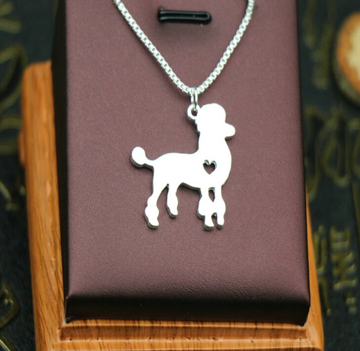 Handmade Boho Chic Poodle Necklace Fashion Poodle Dog Jewelry Silver/gold Two Colors Plated