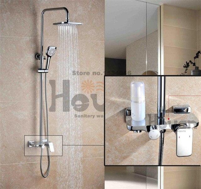 Badezimmer Gute Qualität Multifunktionale Mixer Dusche Set Mit Messing  Erweitern Conuter Wasserhahn 8 Zoll Duschkopf Zwei