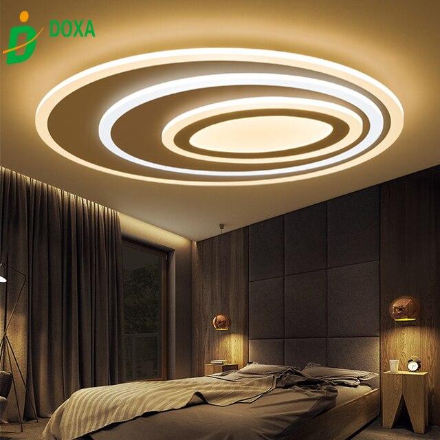 Slim Led Ceiling Lights Living Room Modern Minimalist Bedroom Lamp Romantic Personality Creative Arts Light Lamparas