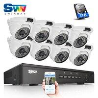 Nieuwe Plug & Play 8CH POE Video Surveillance Systeem 1080 P HD IR Outdoor + Thuis Waterdichte IR Beveiliging POE IP Camera Systeem Emali Alarm