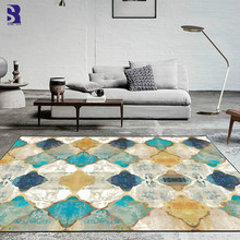 SunnyRain 1-piece Short Plush Printed Geometric Carpet For L
