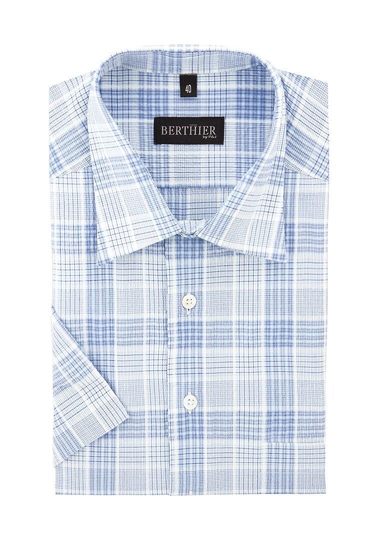 Shirt men's short sleeve BERTHIER Caballero 22723 Blue