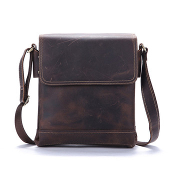 Genuine Leather Shoulder Bags Fashion Men Messenger Bag Small ipad Male Tote Vintage New Crossbody Bags Men's Handbags Flap