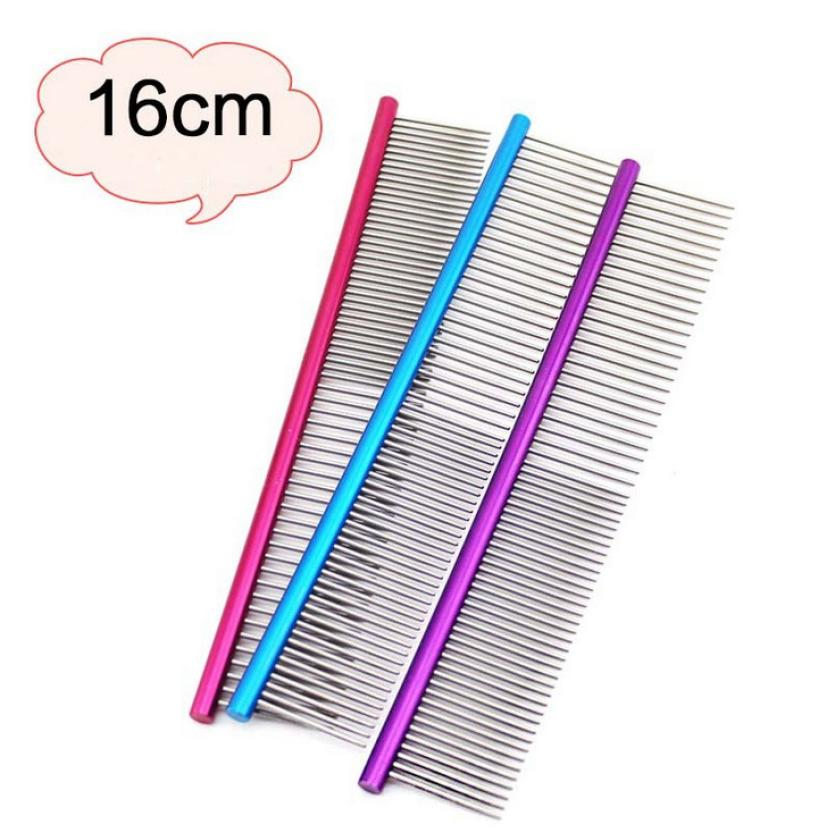 16cm High Quality Pet Comb Professional Steel Grooming Comb Cleaning Hair Trimmer Brush Pet Dog Cat Accessories