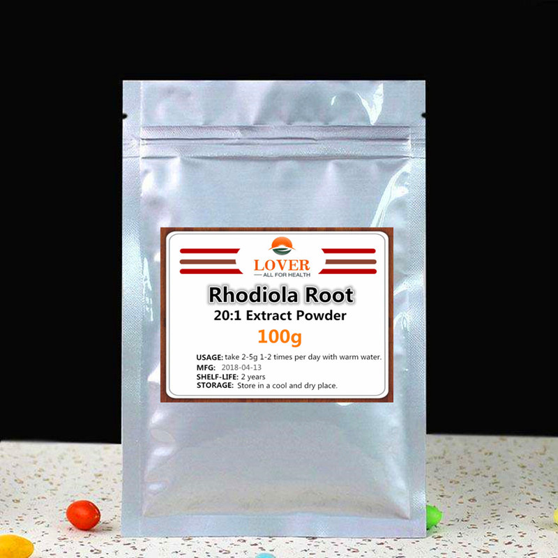 Pure Natural Rhodiola Root Extract Powder,20:1 Rhodiola Rosea,Hong Jing Tian,Golden Root;High Quality with fast free shipping c ts021 new 100g top grade purely natural organic pueraria mirifica powder puerarin lobed kudzuvine root extract herbal tea