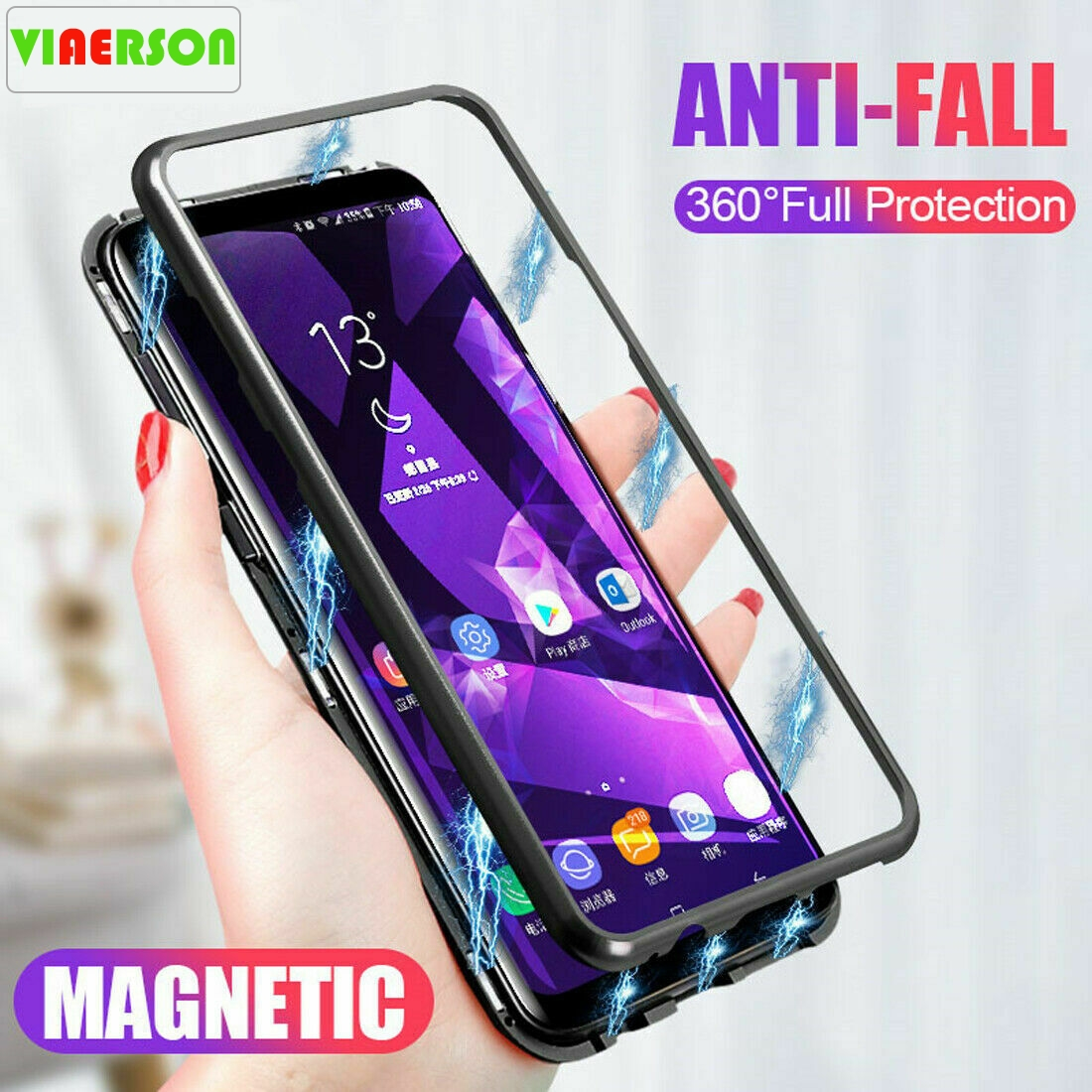 360 Magnetic Adsorption Case for Huawei P30 P20 Lite P10 Plus Nova 2S 2i 3 3i 3e 4 4e Y6 Prime 2018 Y9 2019 Mate 10 20 20X Cases image
