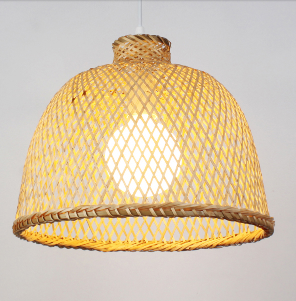 Chinese rustic hand knitting bamboo Pendant Lights Southeast Asia style minimalist E27 LED lamp for porch&parlor&stairs LHDD014 chinese rustic handwoven bamboo pendant lights southeast asia style brief e27 led large lamp for porch