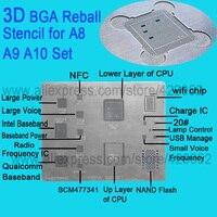 3D IC Chip BGA Reballing Stencil Kits Set Solder Template For Iphone A8 A9 A10 High