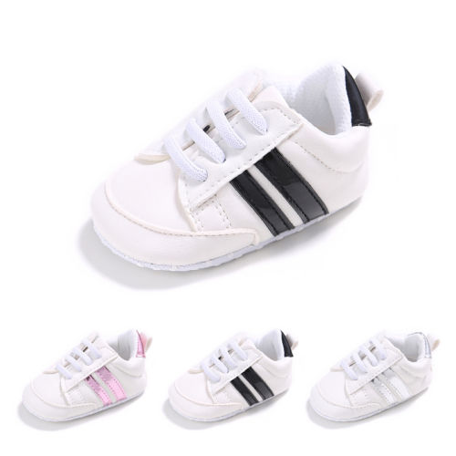 Baby Kids Shoes Crib Sport Unisex Infant Lace Up Soft Sole Casual Shoes 0-18M