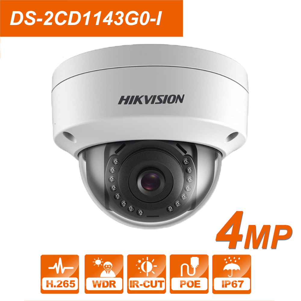 Hikvision 4MP POE IP  DS-2CD1143G0-I 2.8mm  Dome Network Camera 2Axis h,265+