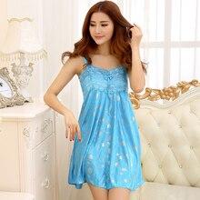 Free Shipping2016 New  summer style Nightgown Nightdress pijama Ladies Sleepwear Women nightwear AZ745