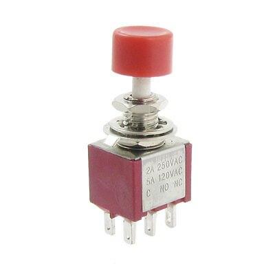 4 Pcs x AC 2A/250V 5A/120V 6 Pin SPDT Momentary Push Button Switch 6mm 2 NO 2 NC cenmax vigilant v 6 a