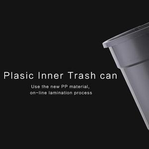 Image 4 - New Fashion 6L 8L 12L Inductive Type Trash Can Smart Sensor Automatic Kitchen And Toilet Rubbish Bin Stainless Steel Waste Bin